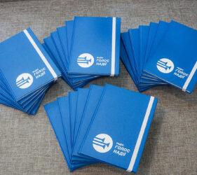 Печать на блокнотах логотипа киев