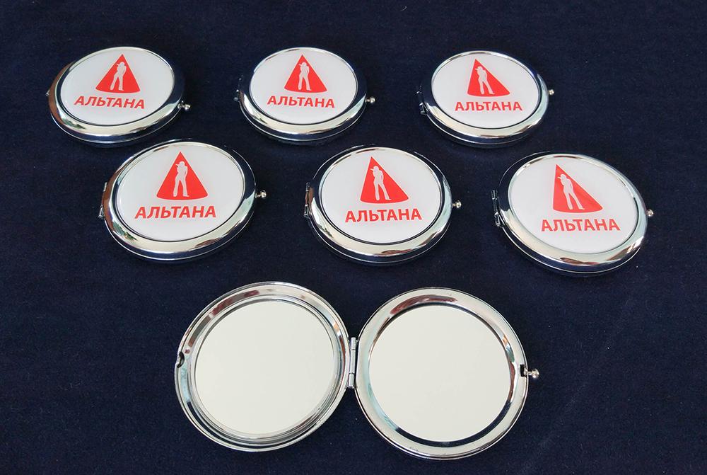 Кишенькові дзеркала з логотипом
